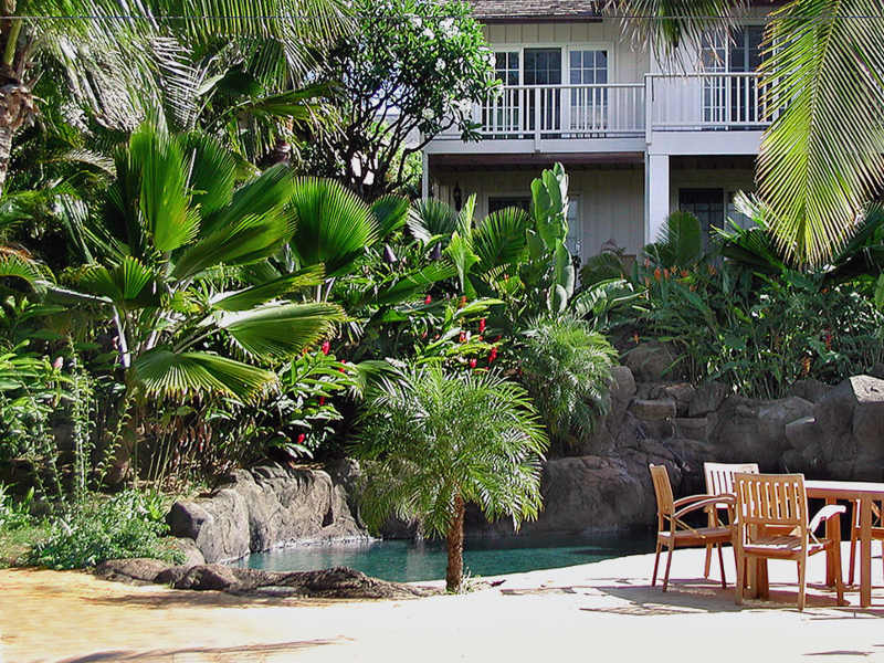 oahu hawaii landscape architects design for resort cabana area