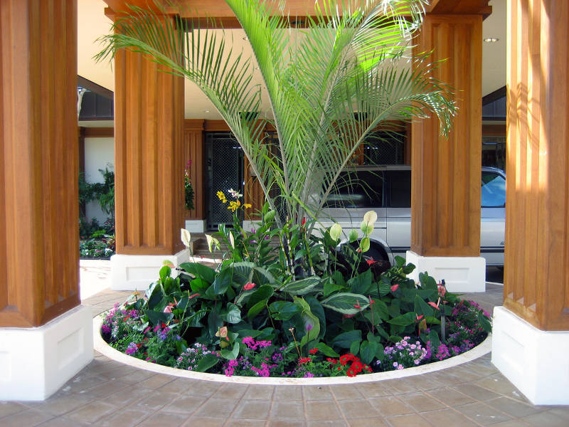 residential hot tub and decking design by PLD landscape architects for residential client in Honolulu Hawaii